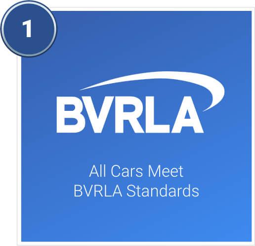 All cars meet BVRLA standards