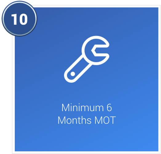 Minimum 6 months MOT